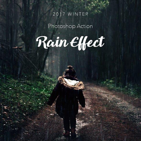 Rain Effect 2 Photoshop Action