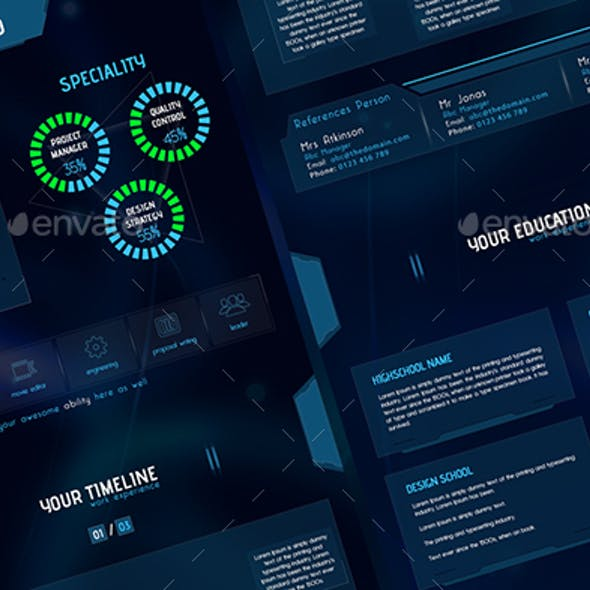 Space Style for Online Features CV