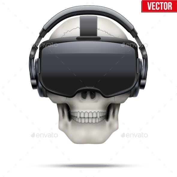 Original Stereoscopic 3d VR Headset and Skull