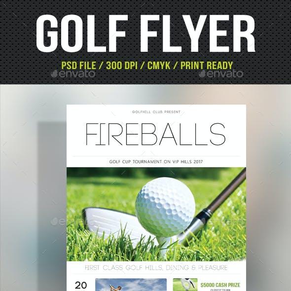 Golf Flyer Template 08