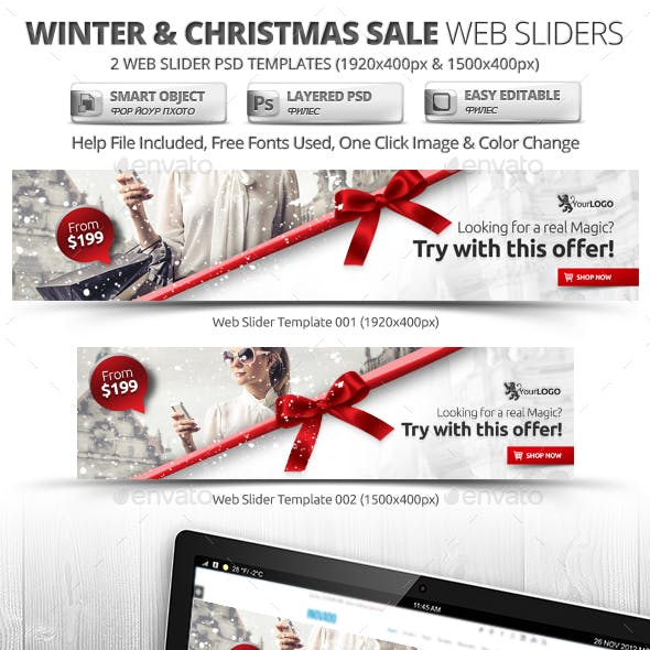 Winter & Christmas Sale Web Sliders