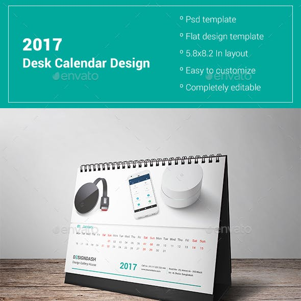 2017 Desk Calendar Design Vol 2
