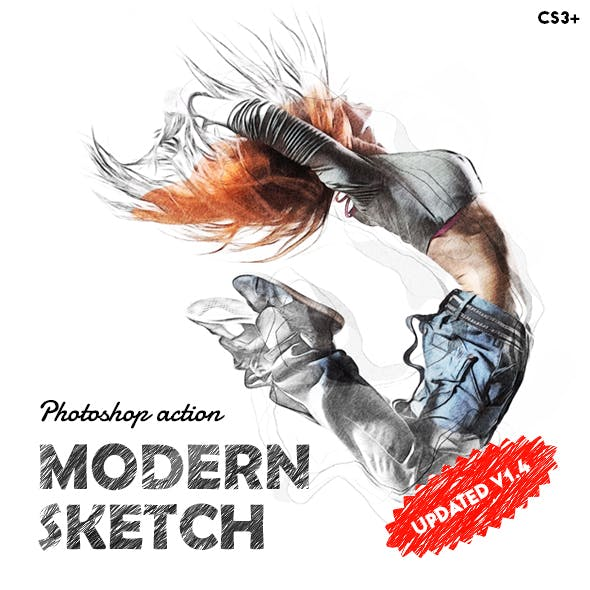 Modern Color Sketch Photoshop Action v1.4