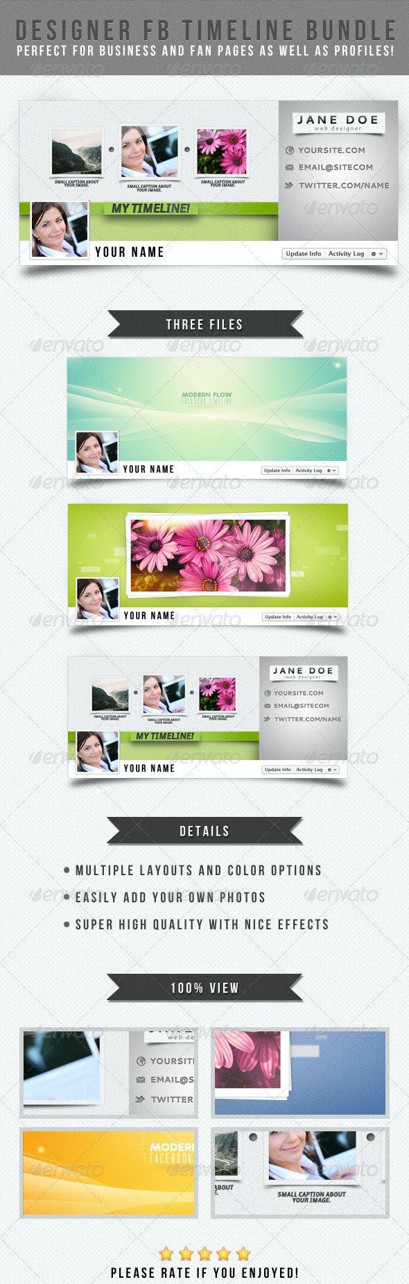 Designer Facebook Timeline Bundle - Facebook Timeline Covers Social Media
