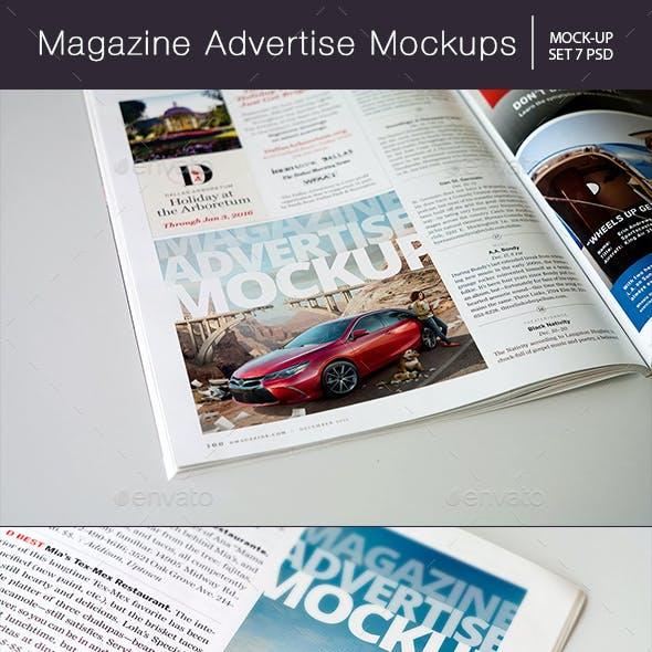 Magazine Advertise Mockups