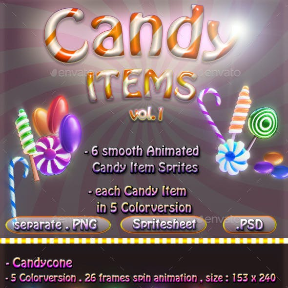 Candy Item Sprites