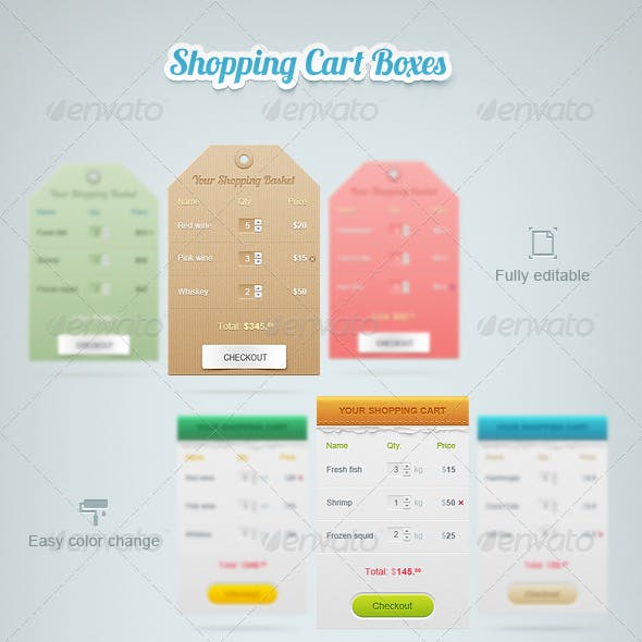 Shopping Cart Boxes