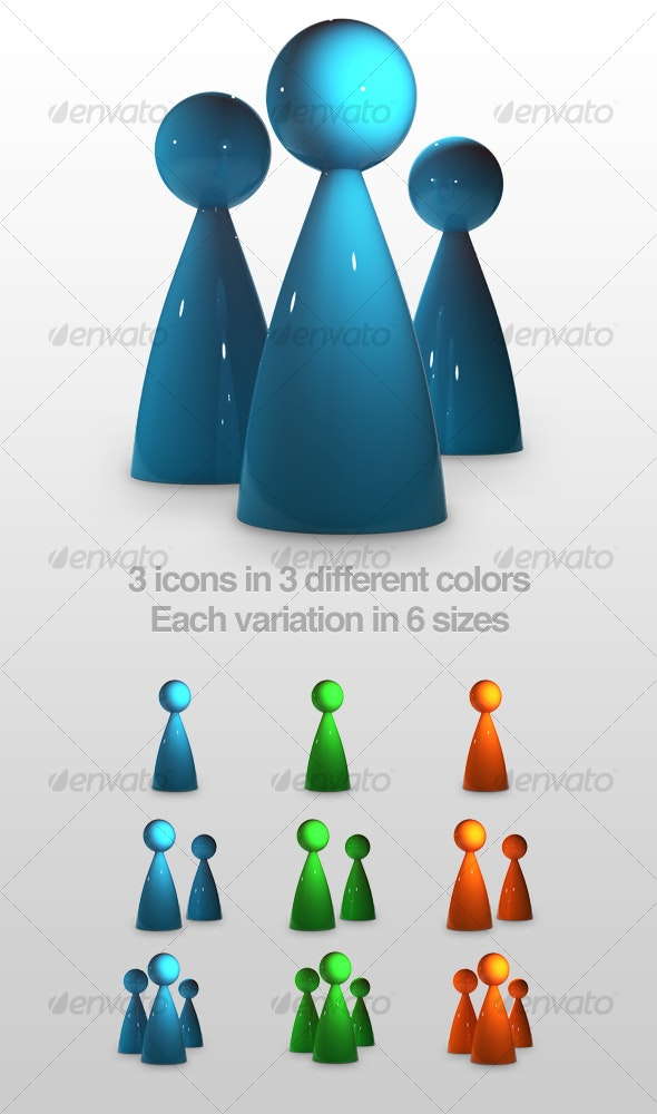 glossy person silhouettes - People Characters