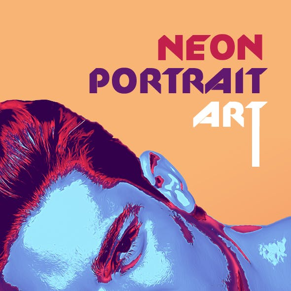 Neon Portrait Photoshop Actions