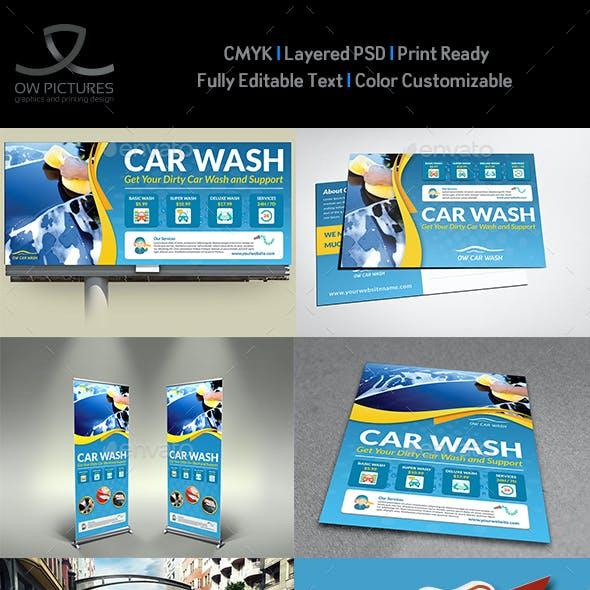 Car Wash Services Advertising Bundle Template