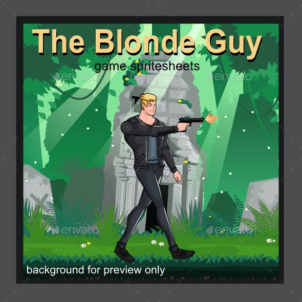 Blonde Guy Sprite Character