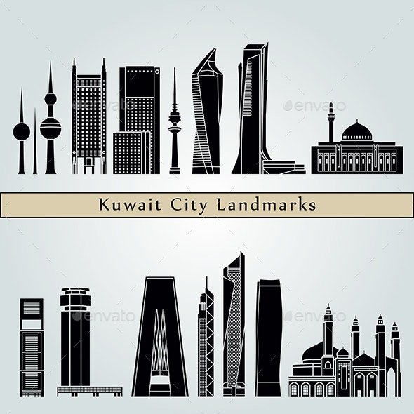Kuwait City V2 Landmarks and Monuments - Buildings Objects