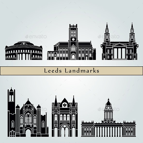 Leeds V2 Landmarks and Monuments - Buildings Objects