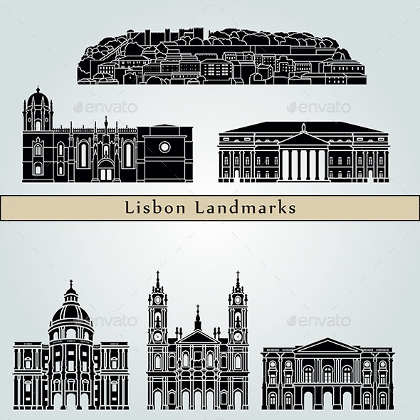 Lisbon Landmarks and Monuments - Buildings Objects