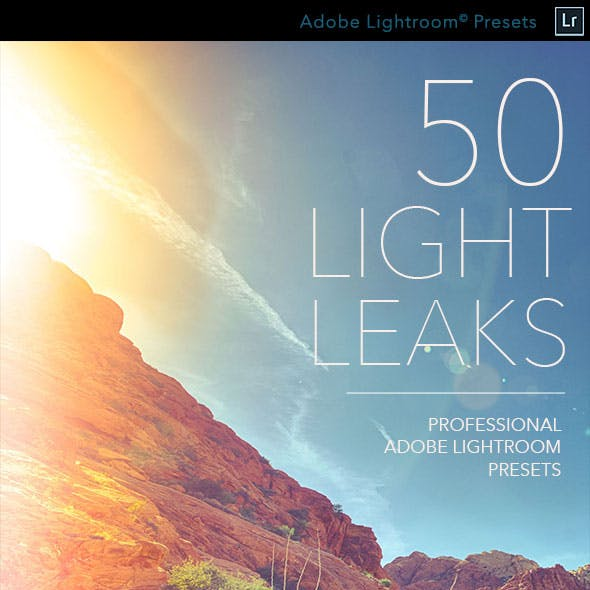 50 Light Leaks - Professional Adobe Lightroom Presets