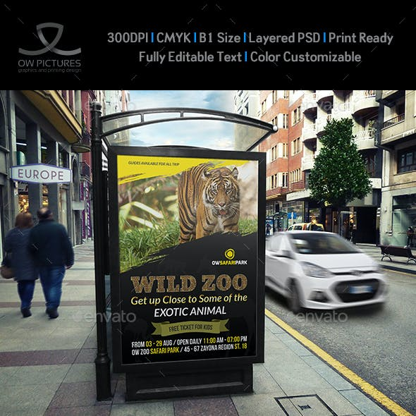 Zoo Poster Template