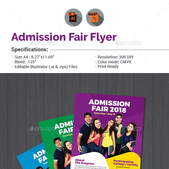Admission Fair Flyer Template