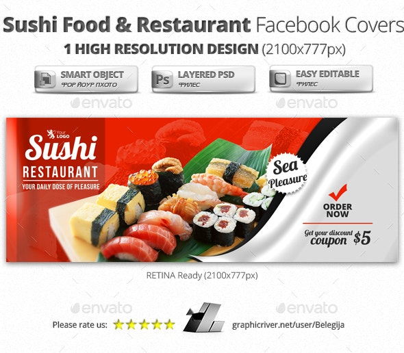 Sushi Food & Restaurant Facebook Covers - Facebook Timeline Covers Social Media