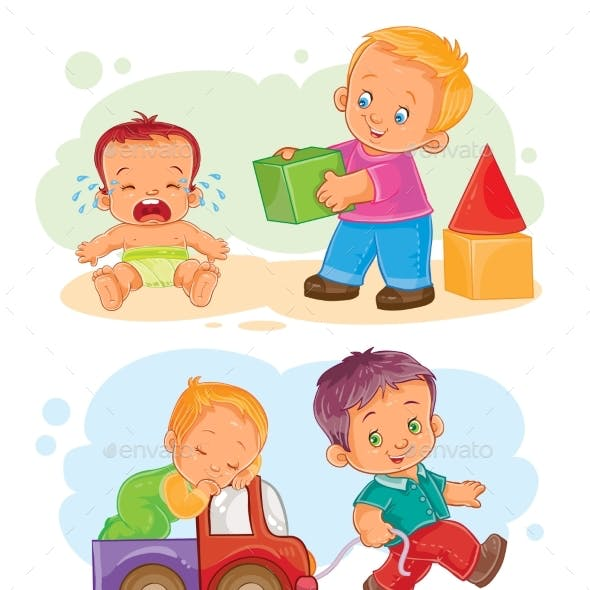 Small Children Icon Set