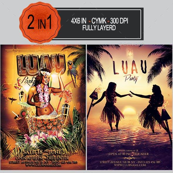 Luau Flyer Bundle