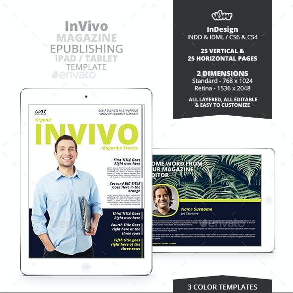 InVivo Interactive Magazine ePublishing PDF Template