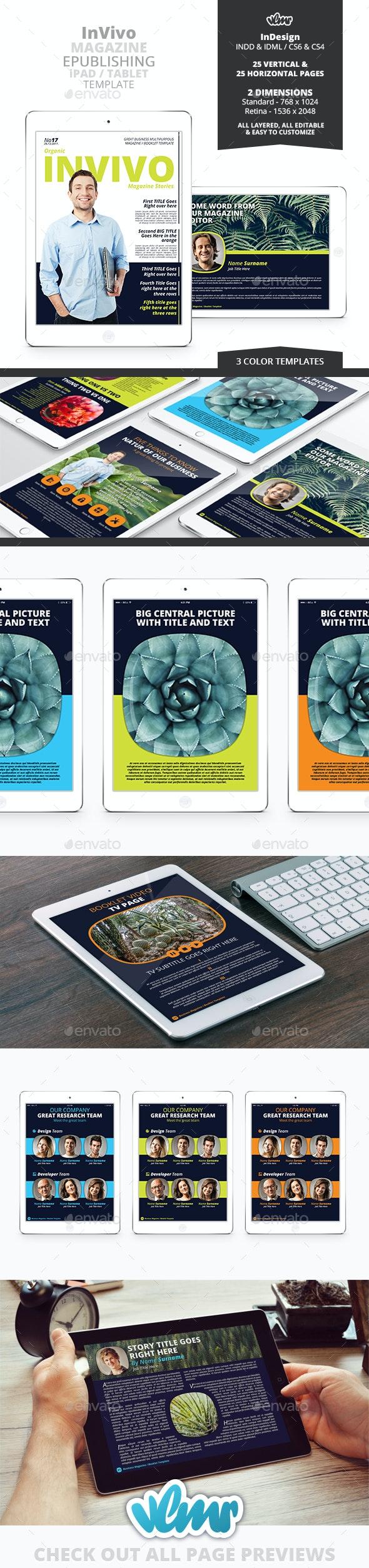 InVivo Interactive Magazine ePublishing PDF Template - Digital Magazines ePublishing