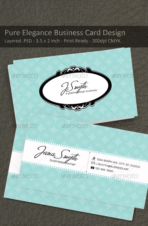 Pure Elegance  - Retro/Vintage Business Cards