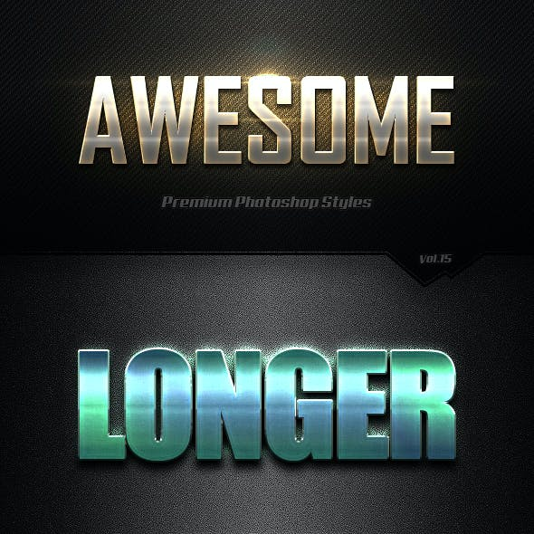 Photoshop Text Effects Vol.15