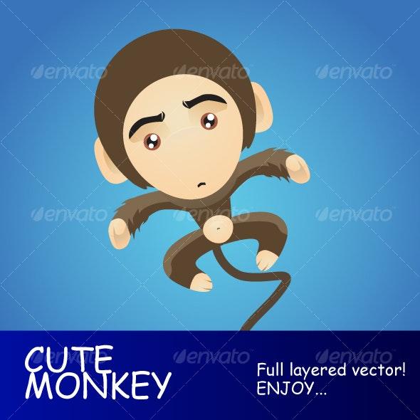 cute monkey - Animals Characters