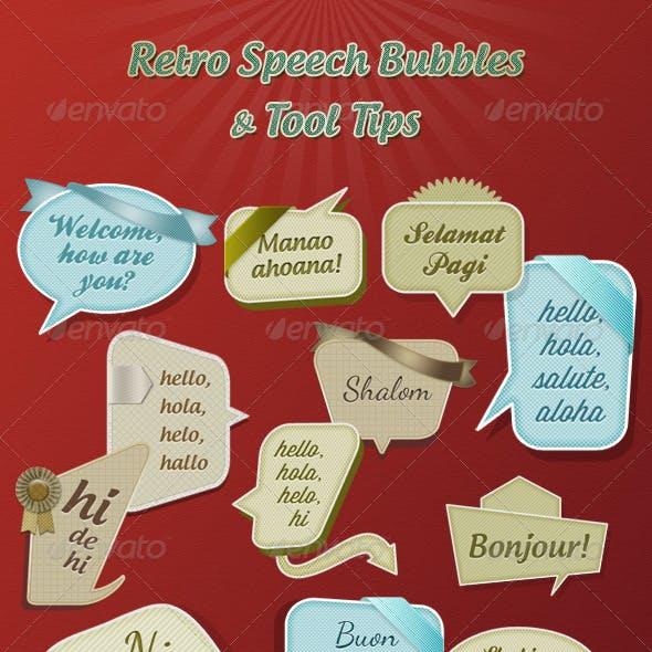 Retro Speech Bubbles & Tool Tips