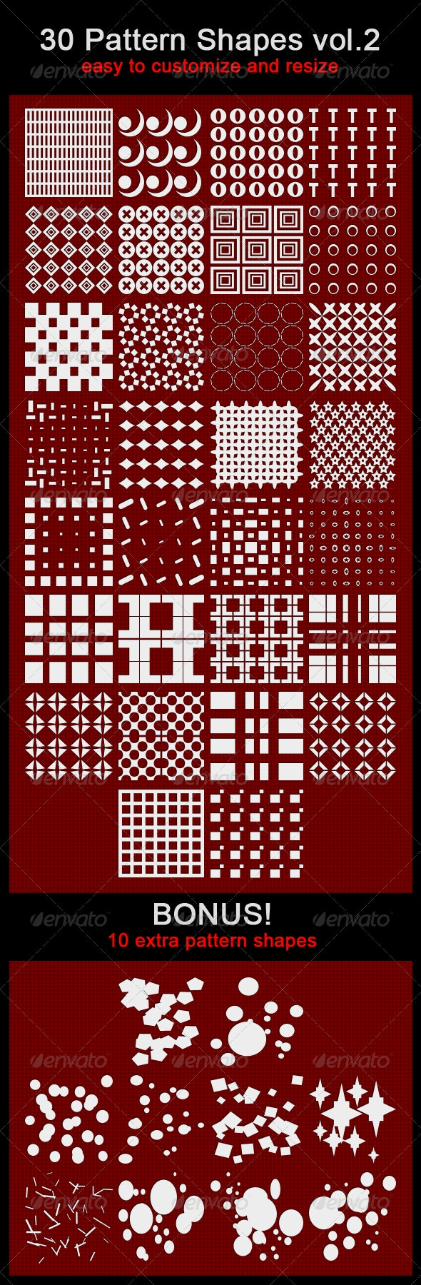 30 Pattern Shapes - Miscellaneous Shapes