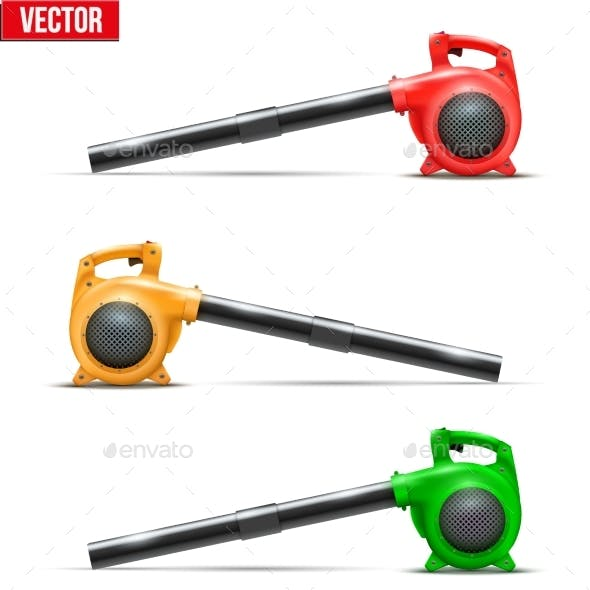 Bright Leaf Garden Blowers. Vector Illustration.