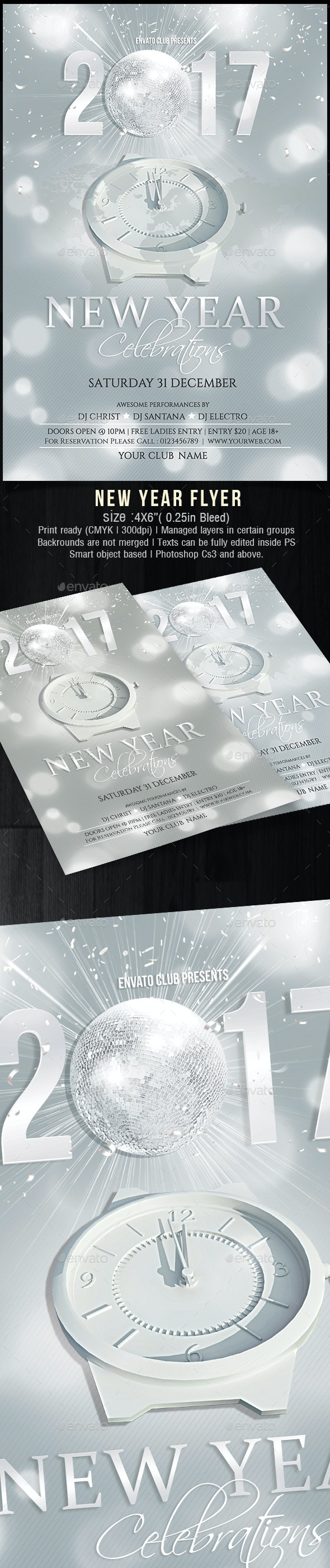 New Year Flyer - Holidays Events