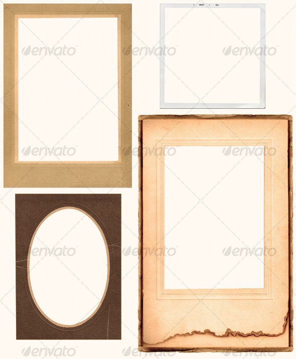 Vintage Photo Frame Set - Home & Office Isolated Objects