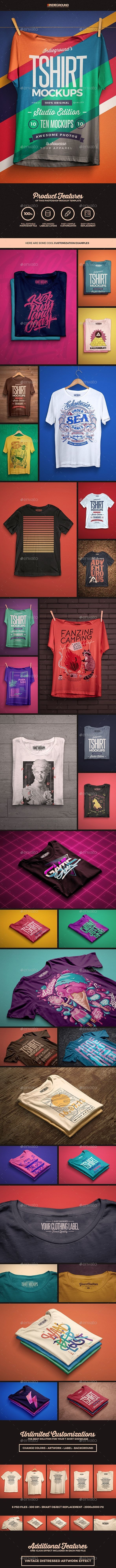 Studio T-shirt Mockups - T-shirts Apparel