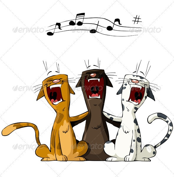 Three Cat - Animals Characters