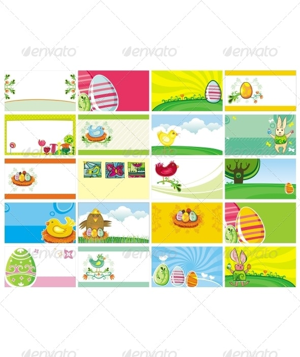 20 spring Easter cards. - Seasons/Holidays Conceptual
