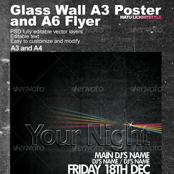 Wall A3 Poster and A6 Flyer