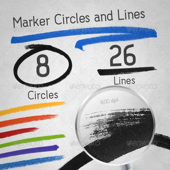 Marker Lines and Circles Pack