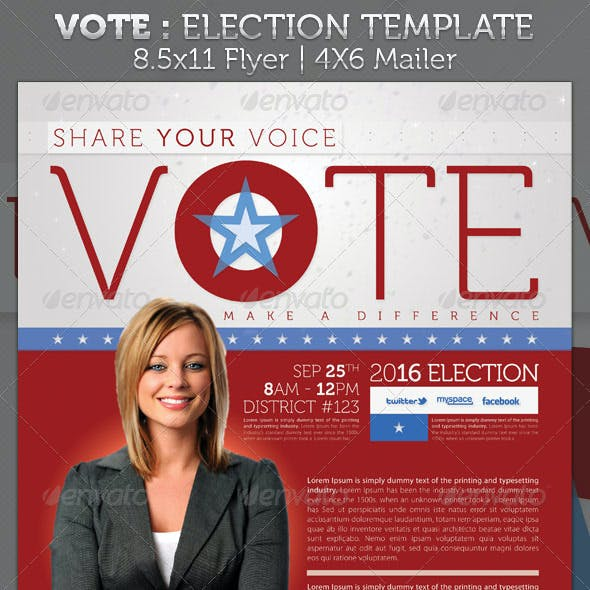 Vote - Election Full Page and Mailer Template