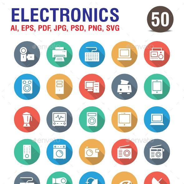 Electronic Flat Icons