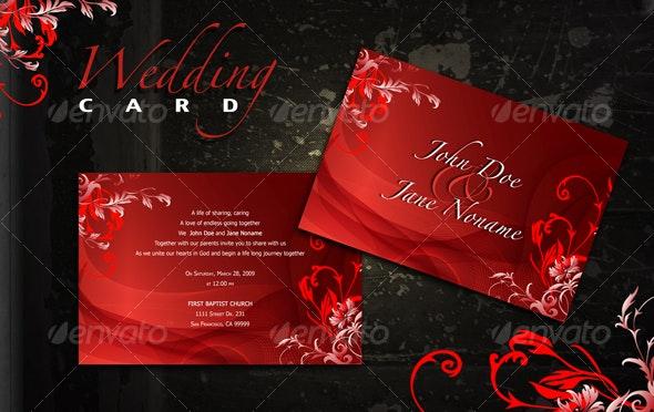 Red Wedding Card - Weddings Cards & Invites