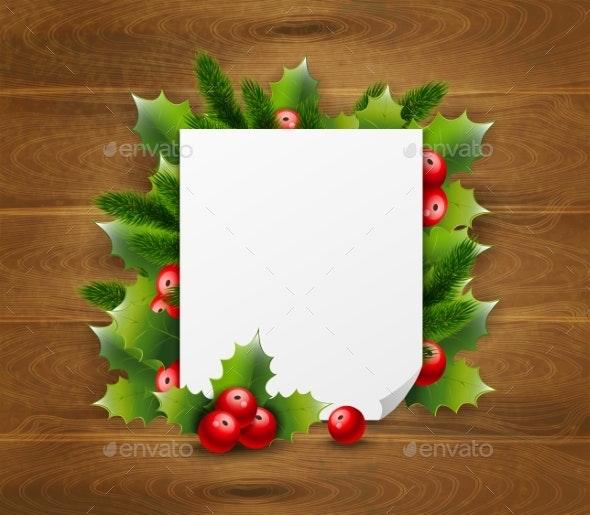 Decorative Greeting Template - Seasons/Holidays Conceptual