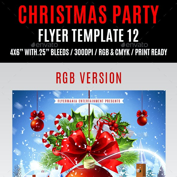 Christmas Party Flyer Template 12
