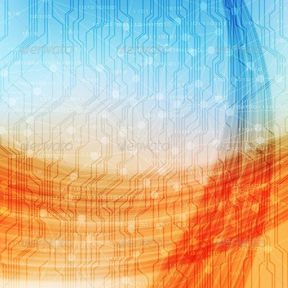 Abstract Backgound - Technology Conceptual