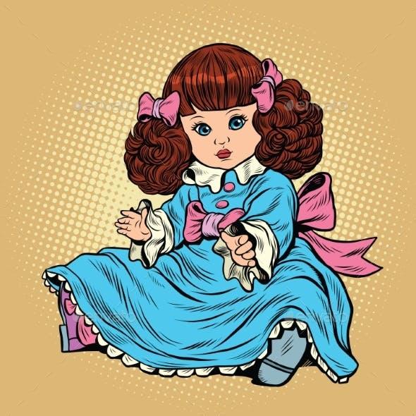 Retro Girl Doll