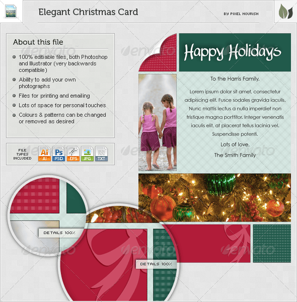 Elegant Christmas Card - Miscellaneous Print Templates