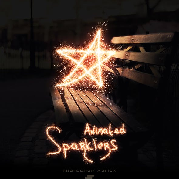 Gif Animated Sparkler Photoshop Action
