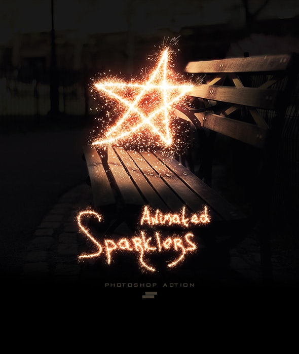 Gif Animated Sparkler Photoshop Action - Photo Effects Actions
