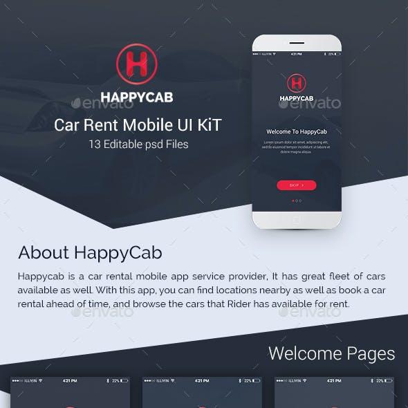 Happycab - Car Rent Mobile UI Kit